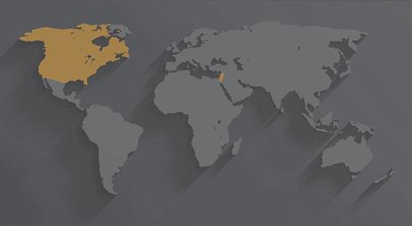 ניסיון בינלאומי, יתרונות מקומיים - מפת העולם
