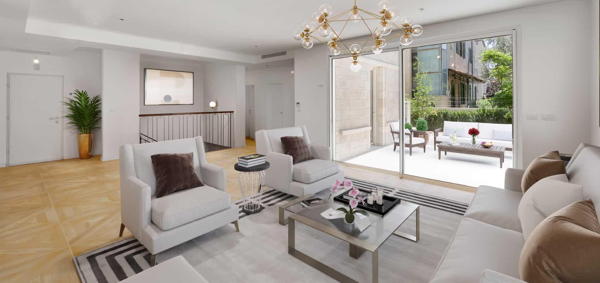 design luxury living room in jerusalem