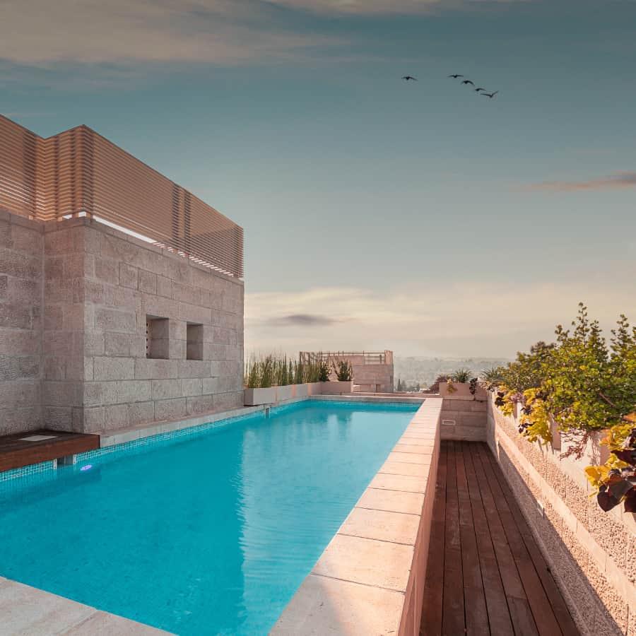 rooftop pool in baka jerusalem