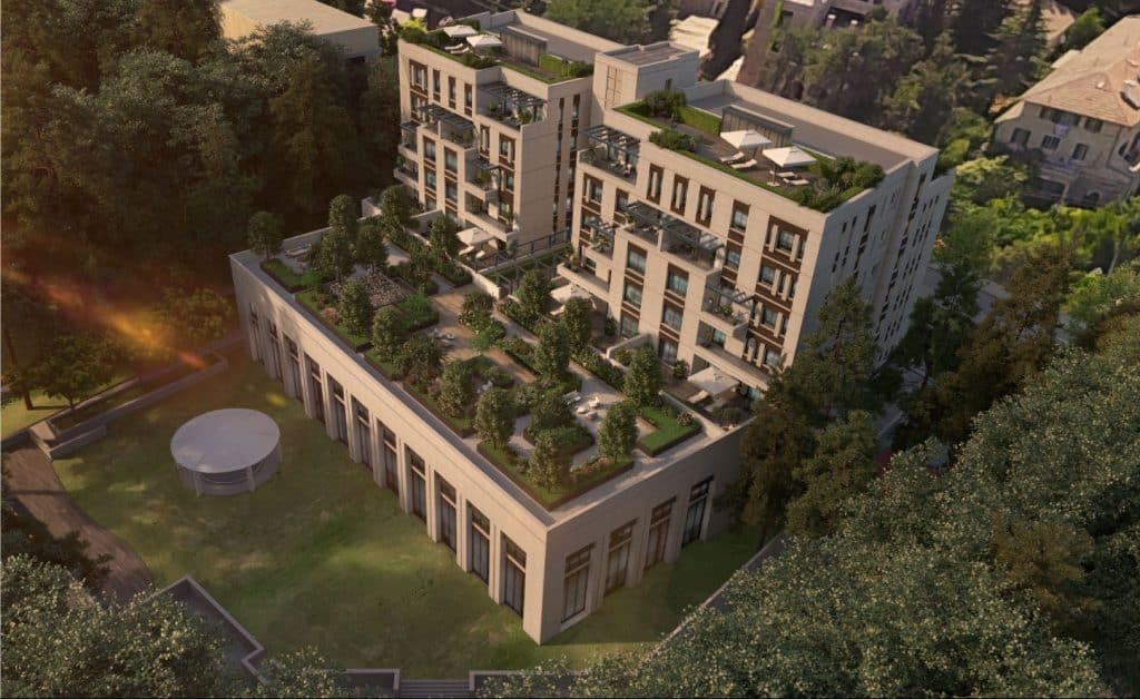 aerial view of luxury apartment in jerusalem