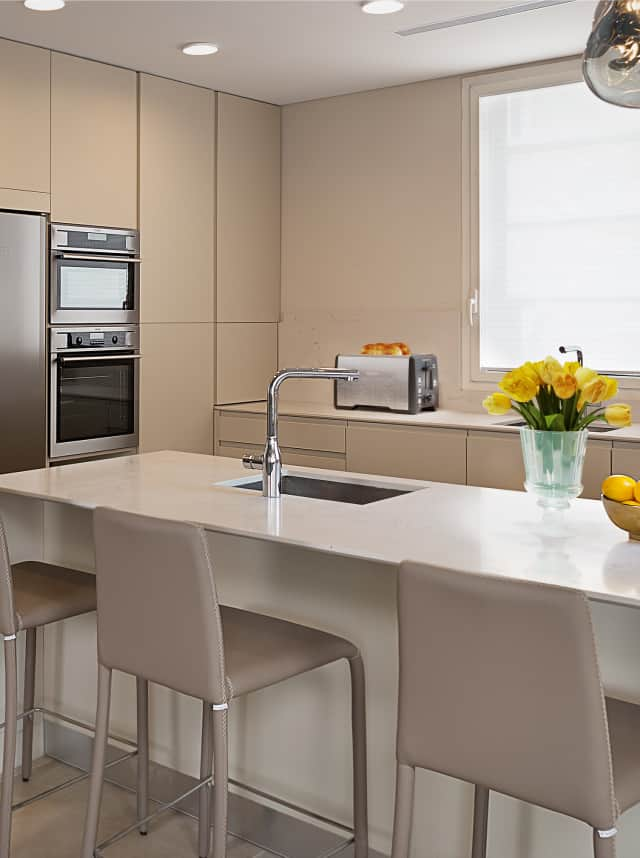 cream colored kitchen in jerusalem apartment