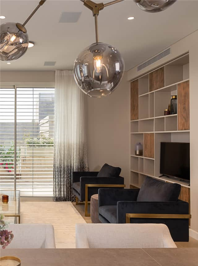 living room in luxury jerusalem apartment