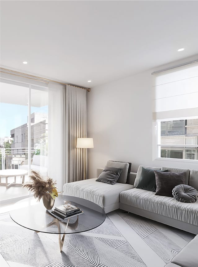 white jerusalem living room design