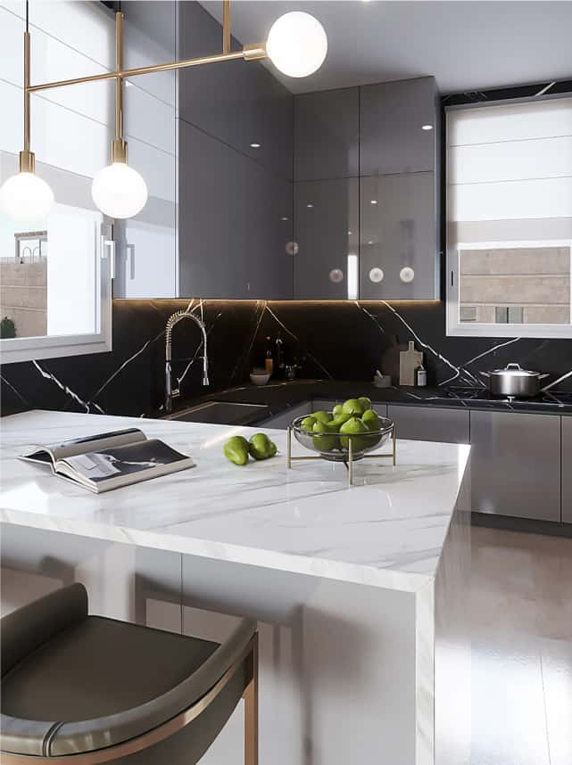 black and white kitchen design jerusalem