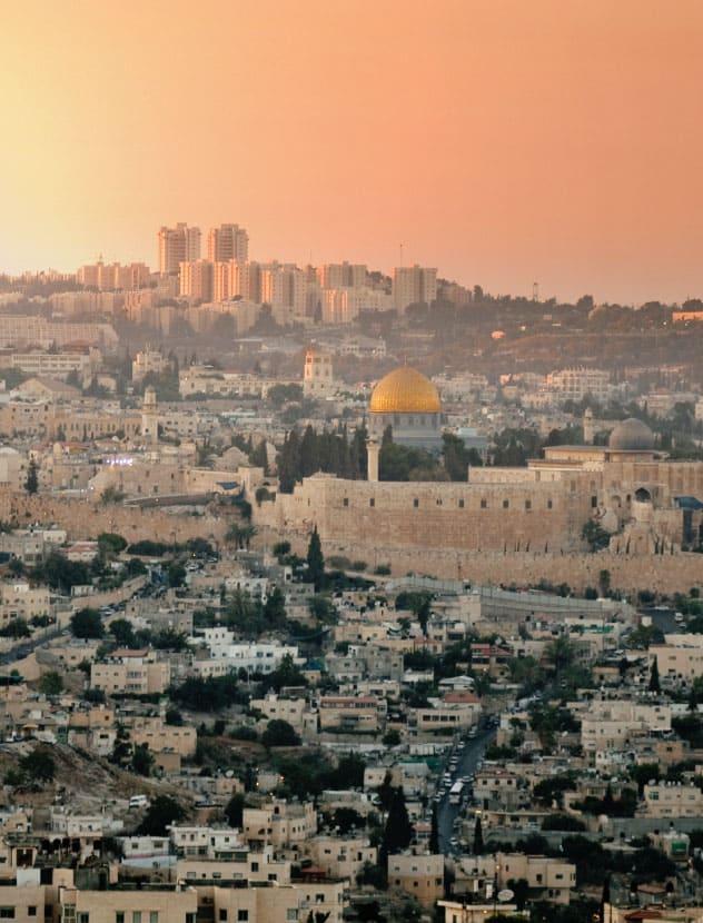 sukkot in jerusalem view